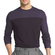 Van Heusen® Long Sleeve Two-Toned Crewneck Doubler Tee