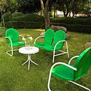 Griffith Metal 4-pc. Patio Lounge Set