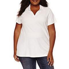 St. John's Bay® Short-Sleeve Polo - Plus