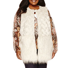 a.n.a® Faux-Fur Vest - Plus