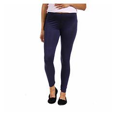 24/7 Comfort Apparel Solid Knit Leggings-Plus Maternity