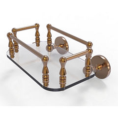 Allied Brass Prestige Skyline Collection Wall Mounted Glass Guest Towel Tray