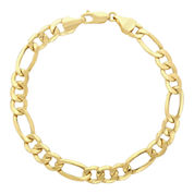 Infinite Gold™ 14K Yellow Gold Hollow Figaro Chain Bracelet