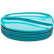 Zak Designs® Moso Set of 6 Divided Plates