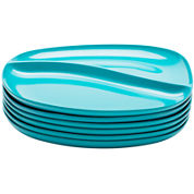 Zak Designs® Moso Set of 6 Divided Plates