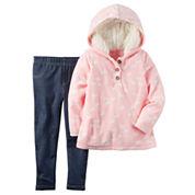 Carter's Girls 2-pc. Long Sleeve Pant Set-Baby 0-24 Mnths