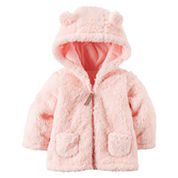 Carter's Girls Midweight Fleece Jacket-Baby