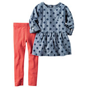 Carter's Girls 2-pc. Long Sleeve Pant Set-Toddler