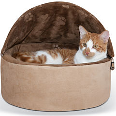 K & H Manufacturing Self-Warming Hooded Kitty Bed