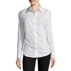 St. John's Bay® Long-Sleeve Wrinkle-Free Shirt