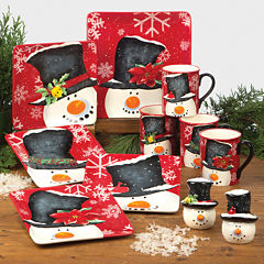 Certified International Top Hat Snowman Dinnerware Collection