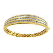 2 CT. T.W. Diamond 14K Yellow Gold Bangle Bracelet