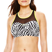 ZeroXposur® Pop/Stalk Reversible Mesh Bra Swim Top