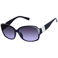 Liz Claiborne Full Frame Square UV Protection Sunglasses