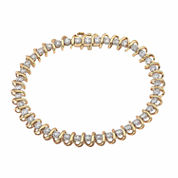 Womens 3 CT. T.W. White Diamond 10K Gold Tennis Bracelet