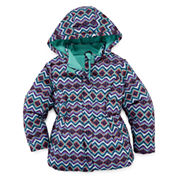 Okie Dokie Girls Midweight Puffer Jacket-Preschool