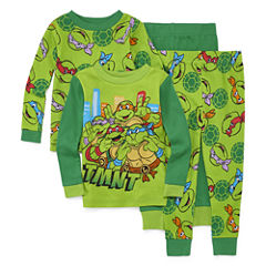 4-pc. Teenage Mutant Ninja Turtles Pajama Set- Toddler Boys 2t-4t