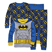 4-pc. Batman Pajama Set- Toddler Boys 2t-4t