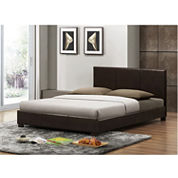 Baxton Studio Pless Dark Modern Bed