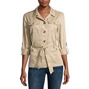 Liz Claiborne® Long Sleeve Safari Jacket