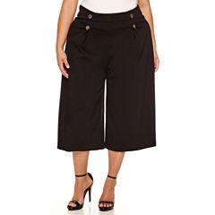 Boutique+ Flared Sailor Cropped Pants - Plus