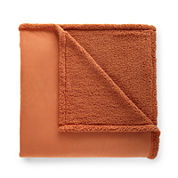 Micro Flannel® Sherpa-Back Blanket