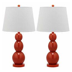 Safavieh Gina 3-Sphere Glass Lamp- Set of 2