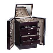 Mele & Co. Geneva Womens Java-Finish Upright Jewelry Box