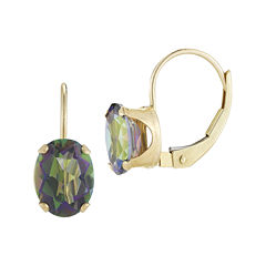 Mystic Fire Topaz 10K Yellow Gold Leverback Earrings