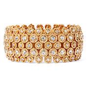 Natasha Gold-Tone Crystal Stretch Circle Bracelet