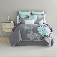 Home Expressions™ Alice Modern Floral 10-pc. Comforter Set & Accessories