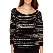 Liz Claiborne® 3/4-Sleeve High-Low Pullover Sweater
