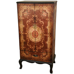 Oriental Furniture Olde-Worlde Accent Cabinet