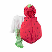 Carter's® 3-pc. Little Strawberry Halloween Costume - Baby Girls 3m-24m
