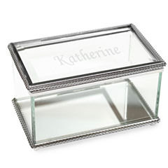 Cathy's Concepts Personalized Beveled Glass Keepsake Box
