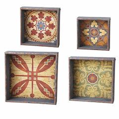 Medallion Shadow Box- Set of 4