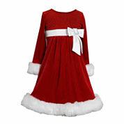 Bonnie Jean Long Sleeve Party Dress - Preschool