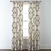 Liz Claiborne® Gallery Scroll Rod-Pocket Curtain Panel