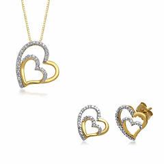 Womens 2-pc. White Diamond 10K Gold Jewelry Set