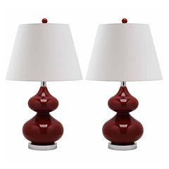 Leighton Double Gourd Glass Lamp- Set of 2