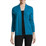 Worthington® Long-Sleeve Flyaway Cardigan - Petite