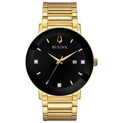 Bulova Mens Gold Tone Bracelet Watch-97d116