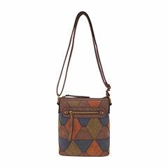 Bueno Of California Triangle Top Zip Crossbody Bag