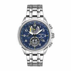 Seiko Mens Silver Tone Bracelet Watch-Ssc507