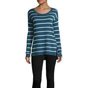 Arizona Long Sleeve Pullover Sweater-Juniors