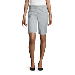 Liz Claiborne® Twill Bermuda Shorts