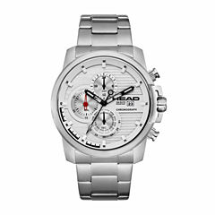 Head Topspin Mens Silver Tone Bracelet Watch-He-003-02