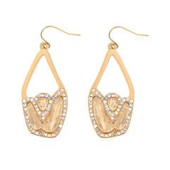 10021 | Kara Ross Crystal Chunky Dangle Earrings