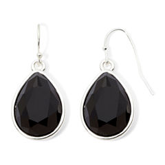 Liz Claiborne® Black Stone Teardrop Earrings