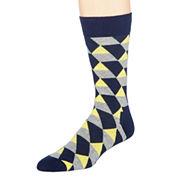 Happy Socks Mens Geometric Print Crew Socks